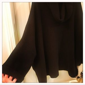 Express Sweaters - Express Black Poncho Knit Sweater